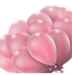 Pink glossy balloons EPS 10 vector image