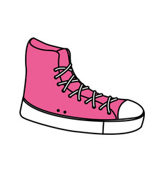 Pink sneaker sport fashion trendy vector
