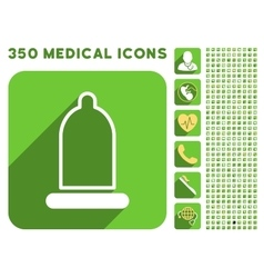 Preservative Icon and Medical Longshadow Icon Set vector image