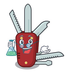 Professor penknife in a character shape vector