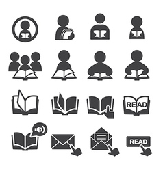 read icon set vector image