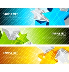 set of banners with star vector image