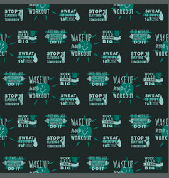 sport motivational logo seamless pattern vector image