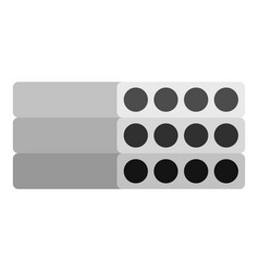 Stack of precast reinforced concrete slabs icon vector