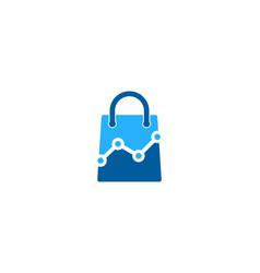 stats shopping logo icon design vector image