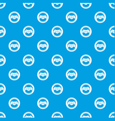 Steering wheel pattern seamless blue vector