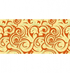 swirly floral abstract vector image