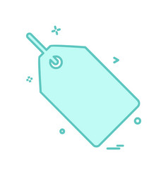 tag icon design vector image