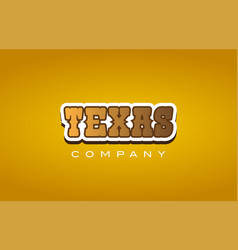 Texas western style word text logo design icon vector