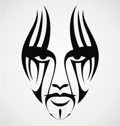 Tribal Face Tattoo vector