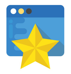 Website rating flat icon vector