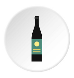 Wine bottle icon circle vector