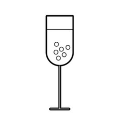 Wine cup isolated icon vector