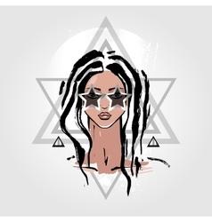 Woman Portrait fashion vector
