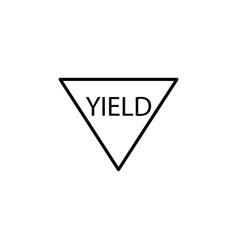 yield road sign icon vector image
