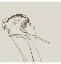 young boy sketch vector image