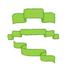 Colorful hand drawn ribbons set vector image