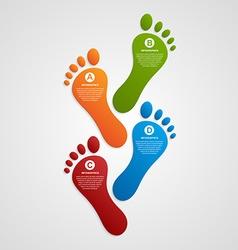 Foot modern design template infographics vector image