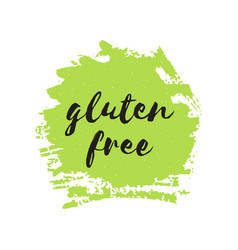 gluten free round stamp logo or sign vector image