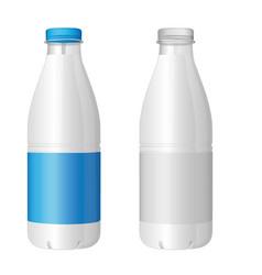plastic bottle of milk vector image