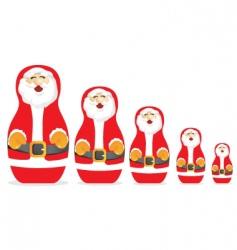 Russian Santa Claus dolls vector image