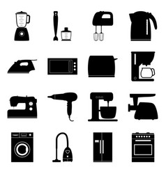 set of home electronics appliances vector image vector image
