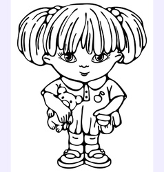 small girl vector image vector image