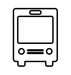 bus line icon navigation and transport sign vector image