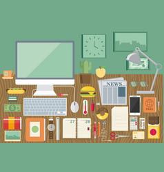 Flat modern design concept of creative office vector