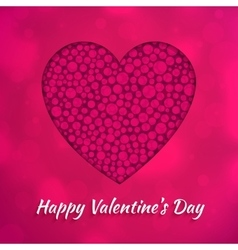Happy Valentines Day greeting card design concept vector image vector image