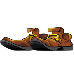 Old mens shoes vector