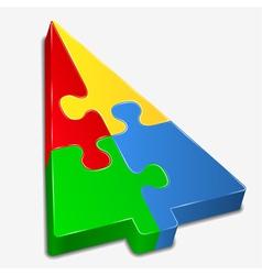 puzzle tree vector image