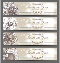 wedding invitations vector image vector image