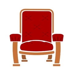 a comfy chair vector image