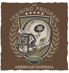 american football t-shirt label design vector image
