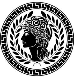 black stencil of patrician women vector image