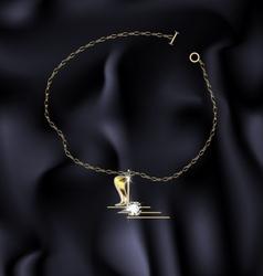 bracelet note vector image vector image