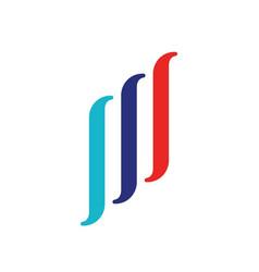 company abstract line logo vector image