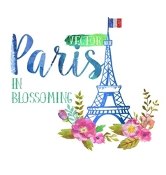 greeting card from Paris vector image vector image