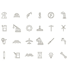 Industry black icons set vector image vector image