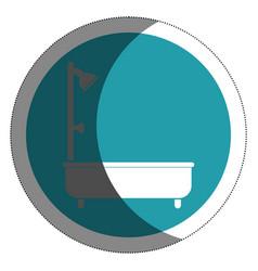 bathtub silhouette isolated icon vector image