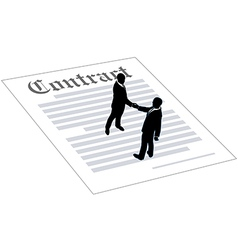 Contract business people sign agreement vector image