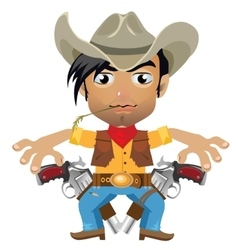 Cool guy fictional character in wild West style vector image vector image