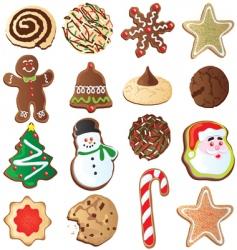 cute Christmas cookies vector image vector image