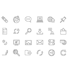 Internet black icons set vector image vector image