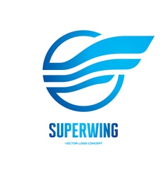 Superwing - logo concept vector image