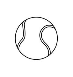 tennis ball sport play equipment line vector image vector image