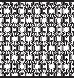 Abstract black hexagon geometric pattern seamless vector