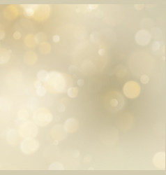 Abstract golden glitter defocused bokeh background vector