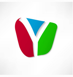abstract icon based on the letter y vector image
